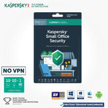 ANTIVIRUS-KASPERSKY SMALL OFFICIE SECURITY 10+10+1 [ORIGINAL 365HARI] Green Others