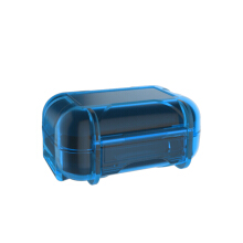 Knowledge Zenith ABS Resin Storage Box Portable Earphone - Blue