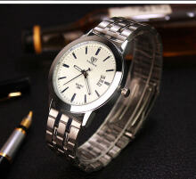 Men's  Watches Fashion Luminous Men Clock  YAZOLE 296 Fashion Steel belt hot sale calendar Korean