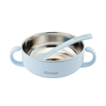 Richell Baby stainless steel bowl baby bowl grinding complementary food bowl double insulated children's tableware