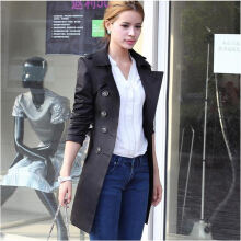 Medalin European and American fashion slim women's coat trench coat