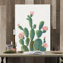 Farfi Green Plant Cactus Decorative Wall Art Painting Sofa Background Home Decor