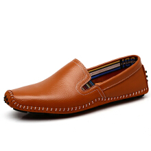 Zanzea US Size 6.5-11.5 Men Leather Casual Outdoor Soft Slip On Flat Loafers
