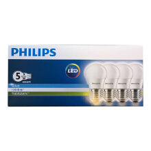 [Jingdong supermarket] PHILIPS LED bulb bubble 5W E27 large screw mouth 3000K yellow four sets