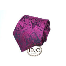 Houseofcuff Dasi Neck Tie Motif Wedding Best Man DARK RED PAISLEY BATIK TIE Red