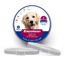 AOSEN flea and tick collar for dogs-2 pack Gray