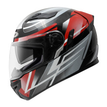 ZEUS ZS-813 AN1 - Helm Full Face - Black Red