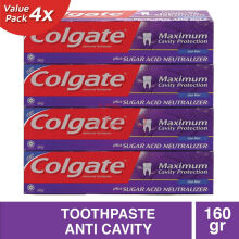 COLGATE Sugar Acid Neutralizer Cool Mint 4pcs x 160g