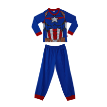 MARVEL Captain America Pajama Set for Boys Costume – Blue