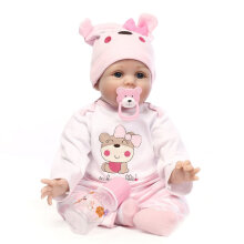 [COZIME] Cute Lovely Girls Realistic Silicone Reborn Newborn Baby Doll Play House Toy Multi-Color1