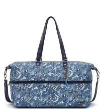 Sakroots Nylon Travel Duffle Bag Blue Steel Spirit Desert