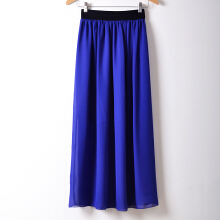 Jantens Summer new fashion long section long skirt the latest elastic waist Bohemian long women skirt