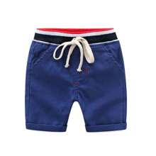 Children's casual shorts new pure cotton lace-up five-point pants boys beach pants