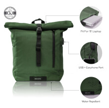 Tas Ransel. USB & Earphone Port + Cable Dan Water Resistant. The X Woof 'Spack-FM 2.0