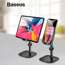 Baseus Metal Mobile Phone Holder Stand for iPhone XS XR iPad Adjustable Desk Phone Holder Stand for Samsung Xiaomi Tablet Holder