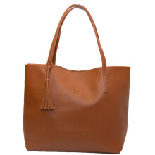 Tas Wanita Tote Bag Alice Bahan Kulit (High Quality) - Brown Beauty Gum