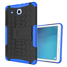 RockWolf Samsung Tab E 9.6 inch / T560 case TPU anti-fall colorful back clip bracket flat shell