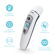 DINGDING New Thermometer Digital Infrared IR LCD Baby Forehead and Ear Non-Contact Adult Body Care Fever Measurement Termometro White