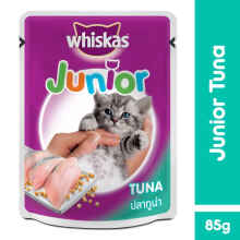 Whiskas Pouch Junior 85Gr Makanan Kucing Rasa Tuna [Isi 6 Pack] 112302X6