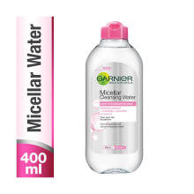 Garnier Micellar Cleansing Water Pink Face Toner Makeup Lip Eye Remover 400ml