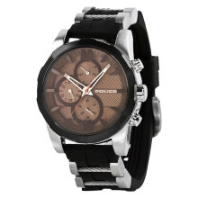 Police Macthcord PL.14541JSTB/13P Brown dial Stainless Steel [PL.14541JSTB/13P]