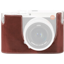 Leica Protector for Q Typ 116 Half Case Vintage Brown Leather (19536)