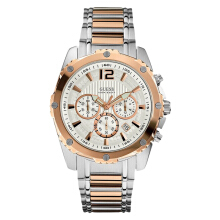 Guess Chronograph U0165G2 Silver Dial Dual Tone Stainless Steel Strap [U0165G2]