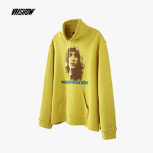 Ins V-442 Trendy brand new Korean version of the autumn and winter jacket female Hip hop jacket-Yellow S