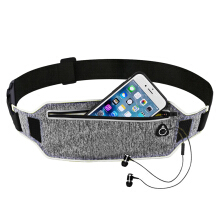 Jantens Professional running pockets sports belt mobile phone men and women invisible pockets Grey
