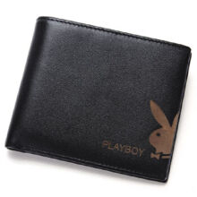 Playboy PAA0093-11 Men's multi-functional wallet Cowhide leather cross section multi-card casual men's wallet-black