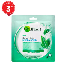 GARNIER Hydrating Bomb Green Tea Mask - 3pcs