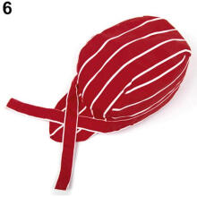 Farfi Pirates Chef Tableware Skull Kitchen Cap Professional Catering Various Chef Hat Red Stripes