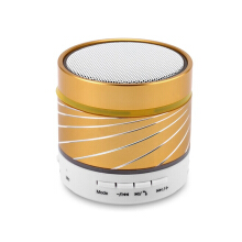 Keymao Wireless Bluetooth Mini Speaker with Hands-free Call TF Card Gold