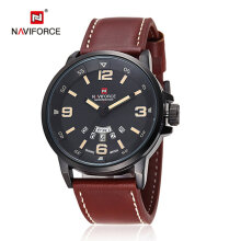 Quartz watches Men's Watch NAVIFORCE 9028 Fashion Man Leather Wristband Sports Watch Date Wristwatch