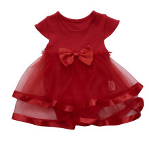 BESSKY Baby Girls Infant Birthday Tutu Bow Clothes Party Jumpsuit Princess Romper Dress_