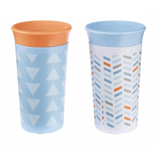 THE FIRST YEARS Simply Spoutless 9oz Cup 2Pk - Asoortment - Blue - Orange