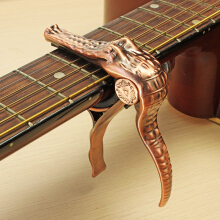 Alice Crocodile Style Zinc Alloy Guitar Capo for Folk Wood Guitar Electric Guitar Silver
