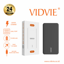 VIDVIE Powerbank PB719 10000 mAh / Battery Charger / Pengisi Daya