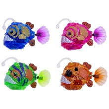 Farfi Simulation Electronic Swimming Fish Flash LED Light Children Baby Bath Toy Random Color