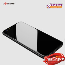 JOYSEUS Apple iPhone 6/6S Case Tempered Glass Back+Soft Silicone Around Cover Black