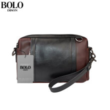 [LESHP]Trendy Men Bag Fashion Crossbody Small Casual Hand PU Leather Male Coffee