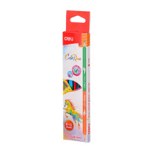 DELI EC00500 Dual Color Pencil Random Color (1 Box = 6 Pencil, 12 Colors)