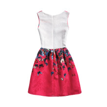 SESIBI Size 130~160 Girls Dresses Children Summer Dress Princess Costume Teens Fashion Printing Wear - Red Butterfly -