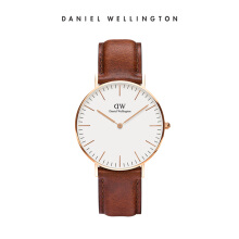 Daniel Wellington Classic Leather Watch St Mawes Eggshell White 36mm
