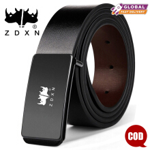 ZDXN Fashionable leisure man belt - Black(120cm)