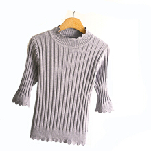 SESIBI Women Tops High Collar Sweaters Slim Warm Bottoming Sweater Knitted Pullover -One Size -