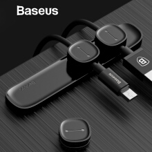 Baseus Magnetic Cable Clip, USB Data Cable Organizer Management Cable Desktop Winder