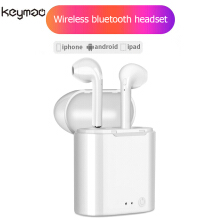 Keymao I7S mini twins Bluetooth headset wireless headset in-ear earphones sports headset audio White