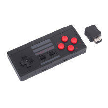 [OUTAD] New Black NES Retro Wireless Handle With Receiver for SFC Version PS4 Wii Black