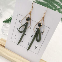 Farfi Sweet Bowknot Long Drop Hook Earrings Women Mori Girl Jewelry Gift Golden